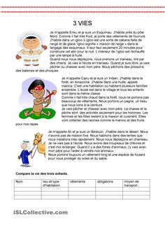 One-click print document French Language Lessons, French Language Learning, French Lessons, French Flashcards, French Worksheets, French Expressions, French Teacher, Teaching French, Comprehension Activities