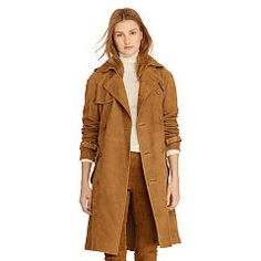 98038606 - Suede Trench Coat