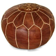 New Pouf Ottoman, Ottoman Leather Moroccan POUF Ottoman Pouffe Premium Round Moroccan Leather Natural Leather tan Brown Footstool by HandmadeArtMorocco on Etsy Leather Pouf Ottoman, Moroccan Leather Pouf, Moroccan Pouf, Brown Furniture, Furniture Decor, Moroccan Slippers, Crochet Pouf, Scandinavian Furniture, Home Decor