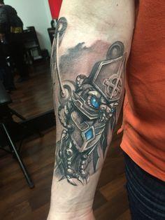 steampunk owl tattoo