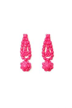 Tom Binns Neo Neon Flower Earrings