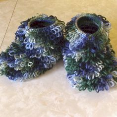 Loopy Slippers (Moccasins)