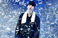 Everyone else is like grabing the confetti, but no, my angel tries to eat it. - G.
