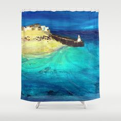 Low Tide Shower Curtain by SaffronKay | Society6