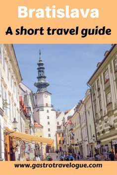 """Bratislava Travel Guide The Highlights is part of Bratislava Travel Guide The Highlights Gastrotravelogue - If you have seen either of the movies """"Euro Trip"""" or """"Hostel you will most definitely have the Europe Travel Guide, Backpacking Europe, Spain Travel, Travel Guides, Places To Travel, Travel Destinations, Places To Go, European Destination, European Travel"""