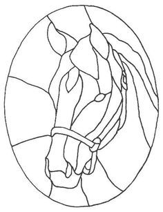 stained hlass horse patterns - Google Search