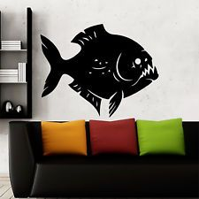 Wall Decals Fish Sea Animal Removable Stickers Fish Vinyl Decal Home Decor D122