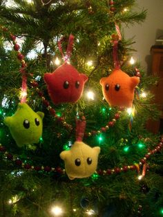 Mario Sprite Christmas Tree Ornaments!  I can't wait to make some