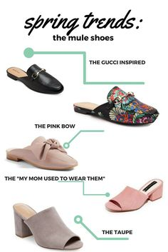 Get your closet an update with the latest spring trends: mules shoes! The mule shoes are the perfect way to make a boring outfit to stand out. Keds Shoes, Mules Shoes, Thigh High Sock Boots, Cheap Womens Shoes, Latest Shoe Trends, Kinds Of Shoes, Jimmy Choo Shoes, Spring Trends, Fashion Shoes