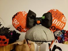 Items similar to BOO Disney inspired ears. Fabric ears with Bootiful appeal accented with mickey pumpkin button. Be ready to trick o treat at Mickeys party on Etsy Disney Halloween Ears, Disney Ears, Mickey Party, Disney Inspired, Etsy Seller, Pumpkin, Creative, Fabric, Handmade