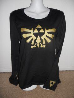 Legend of Zelda long sleeved Triforce eagle top by Stitch3d, $22.00