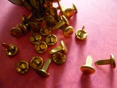 Vintage Brass  Paper Fasteners by CaityAshBadashery on Etsy, $9.95