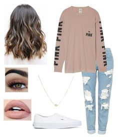 """School"" by bzinn on Polyvore featuring Topshop, Victoria's Secret and Vans"