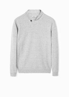 Pullover mit schalkragen | MANGO MAN