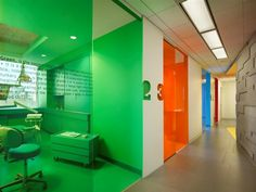 This is exactly how I want my office to be ! Each room with a diff color & theme , to keep things interesting :)