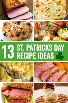 A delicious roundup of St. Patrick's day food recipes that feature classic corned beef and cabbage cooked different ways, stews, Irish soda bread, potato side dishes, and desserts. Make planning the Irish feast easy with these tasty ideas! #irishrecipe #irishfood via @foodiegavin