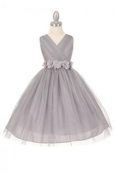 689 Best Silver Flower Girl Dresses Images Girls Dresses Dresses