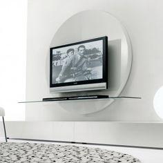 Porta tv Venice con effetto capitonnè laccato opaco nero. | Cose ...