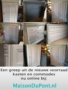 Super mooie gerenoveerde brocante linnenkasten, commodes, oude en nieuwe klepbanken tafels op maat dit is slechts een voorproefje...