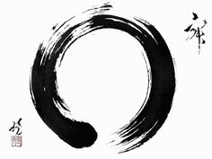 "Enso - it is a symbol and not a character. It symbolizes absolute enlightenment, strength, elegance, the universe, and the void; it can also symbolize the Japanese aesthetic itself. As an ""expression of the moment"" it is often considered a form of minimalist expressionist art."