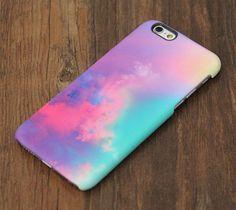Pastel Turquoise Sky iPhone 6s Case   iPhone 6 plus Case   iPhone 5 Case   Galaxy Case 3D 082