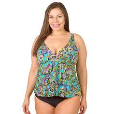 837e69446a Ruffle Triple Tier Swimsuit Top - Gypsy Junior Plus Size Swimwear