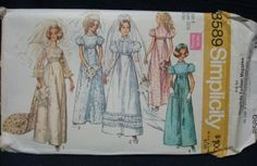 1960s Wedding Gown Pattern with Train Prom Cotillion by kinseysue