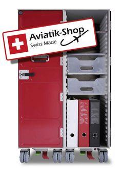 Airline Trolley Swissair Schweiz Carts Flugzeugtrolley günstig von Aviatik-Shop