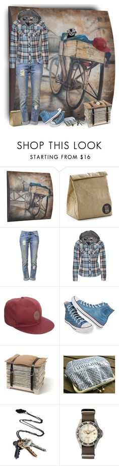 """""""Rustic Ride"""" by merlothues ❤ liked on Polyvore featuring Anine Bing, dELiA*s, ASOS, Converse, Stolen Girlfriends Club, Toy Watch, rustic, converse, plaid and jeans"""
