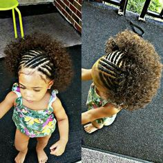 Now this is a little too young for this hairstyle... But I like it for a young girl