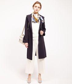 ROPÉ PICNIC(ロペピクニック)|ツイルフーデッドガウンコート Gown coat |NAVY #J'aDoRe JUN ONLINE #J'aDoRe Magazine