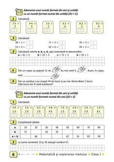 Clasa I. 1st Grade Math Worksheets, Best House Plans, Math For Kids, Grade 1, Mathematics, Preschool, Album, Activities, How To Plan