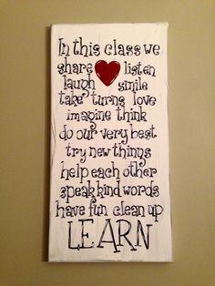 Classroom canvas idea