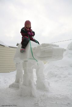 Snow AT-AT!  We should totally build one in your yard this year @Nicole Platt :)