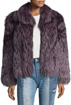 Karl Lagerfeld Paris Women's Fox Fur Short Coat