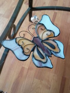 Delicate Butterfly Stained Glass by anajdesigns on Etsy, $8.00