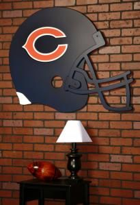 Chicago Bears giant helmet wall art....a Detroit Lions one would be good too!