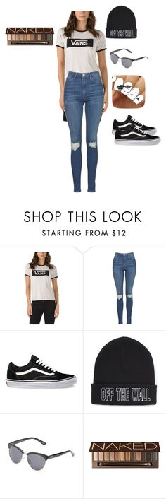 """""""Vans Off The Wall"""" by ootdqueen1889 on Polyvore featuring Vans, Topshop and Urban Decay"""