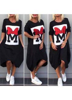 Moderní, volnočasové šaty Mickey Shirt Dress, T Shirt, Tops, Dresses, Fashion, Tunic, Vestidos, Moda, Shirtdress