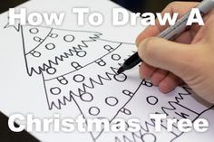 How To Draw A Christmas Tree For Kids!