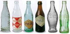 Botellas antigüas de Coca Cola. ¿Con cuál te quedas?
