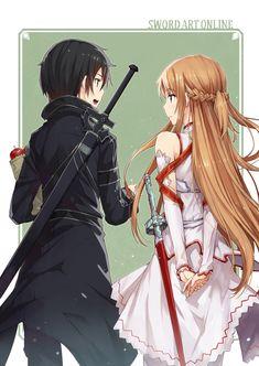 Sword Art Online, Kirigaya Kazuto, Yuuki Asuna