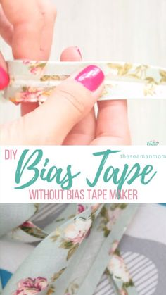 Making bias tape at home could not be easier so you won't need to compromise anymore and use bias binding that's simply not perfect for your project! Here's how to make bias tape, in a simple and easy…More Diy Sewing Projects, Sewing Projects For Beginners, Sewing Hacks, Sewing Tutorials, Sewing Crafts, Sewing Tips, Fabric Crafts, Tutorial Sewing, Easy Projects