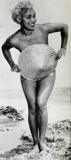 African American Pin up/ Singer/Blond Bombshell Sally Blair