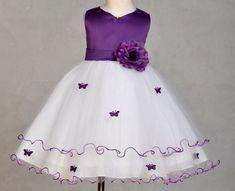 New Flower Girl Rose Butterflies Wedding Dress 2 4 6 8 | eBay