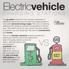#ElectricCar charging stations. #infographic #ontheblog #electric #electricity