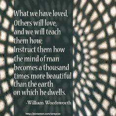 From 'The Prelude' by William Wordsworth