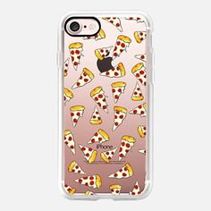 iPhone 7 Case Funny pepperoni pizza slices pattern