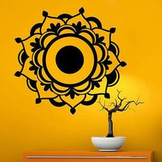 Mandala Wall Decals Stickers Namaste Vinyl Bedroom Decor Bohemian Yoga Art MR365