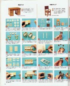 Como Fazer Uma Secretaria Com a Cadeira Em Miniatura... - Edicris